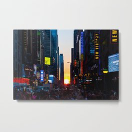 Manhattanhenge - New York Metal Print