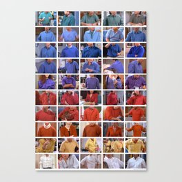 Seinfeld in Color 1 Canvas Print