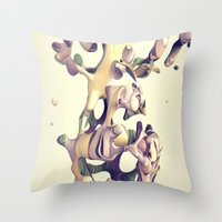 hug Throw Pillows featuring HUG by AMULET