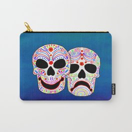Comedy-Tragedy Colorful Sugar Skulls Carry-All Pouch