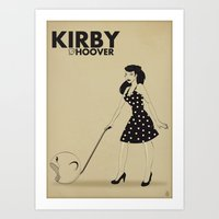 kirby Art Prints featuring Kirby Hoover by Lily's Factory