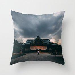 Tokyo Temple Throw Pillow