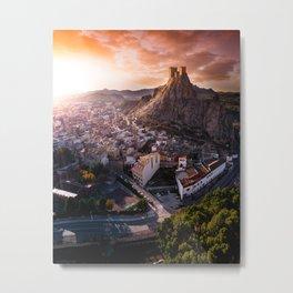 Countryside village in Spain Metal Print