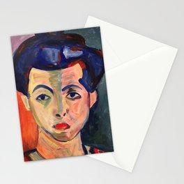 Green Stripe Stationery Cards