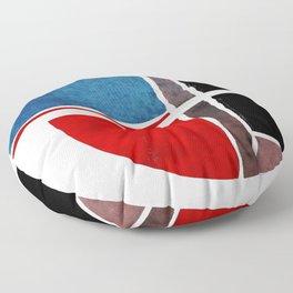 Blue & Red Sphere Floor Pillow