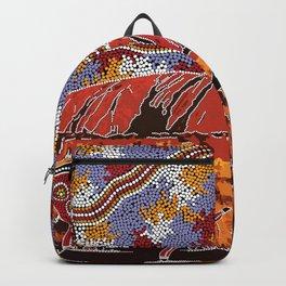 Uluru (Ayers Rock) Authentic Aboriginal Art Backpack