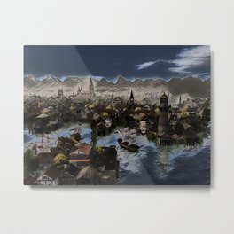 Deep Blue Metal Print