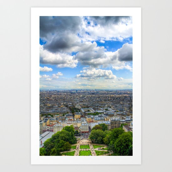 Paris From The Sacre Coure Art Print