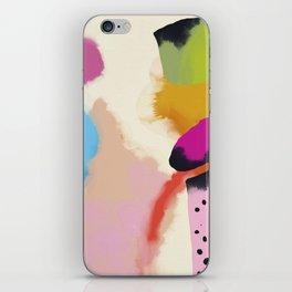 la vie en rose  art abstract minimal iPhone Skin