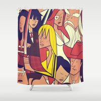 kill bill Shower Curtains featuring Kill Bill by Ale Giorgini