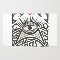 all seeing eye Area & Throw Rugs featuring All seeing eye by Andready