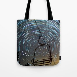 Chair Lift Spiral Tote Bag