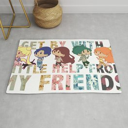 Sailor Scout Friends Rug