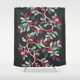 Minty Pinky Branches Shower Curtain