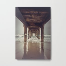 Manhattan Beach Metal Print