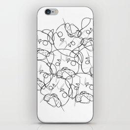 pug lump iPhone Skin