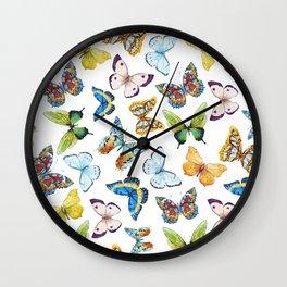 Butterfly Pattern 02 Wall Clock