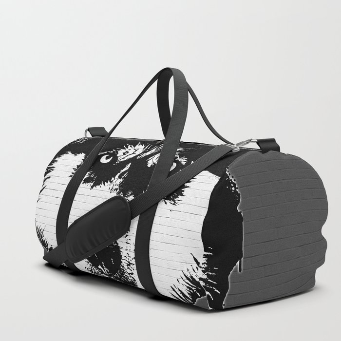 husky dog face grafiti spray art Duffle Bag