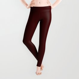 Bordo Wine Flat Color Leggings