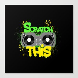 Scratch This Canvas Print
