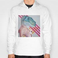 queer Hoodies featuring Queer Dinosaur by Kim Leutwyler