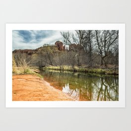 Cathedral Rock from Red Rock Crossing Art Print