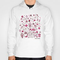 kawaii Hoodies featuring Kawaii Friends by Gina Mayes