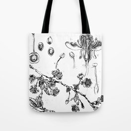 Botanical #CHERRIES Tote Bag