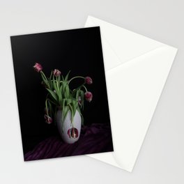 Tulips in vase Stationery Cards