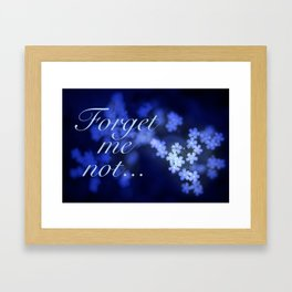 Beautiful Forget-me-not Blossoms. Framed Art Print