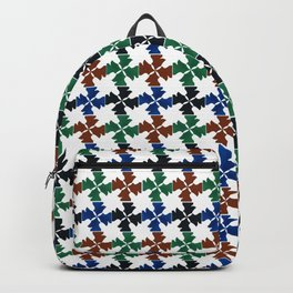 Knighted Pattern in Mixed Colors Backpack