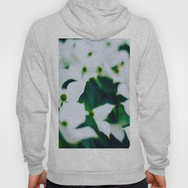 Bouquet Of White Flowers With Blurry Edit Hoody