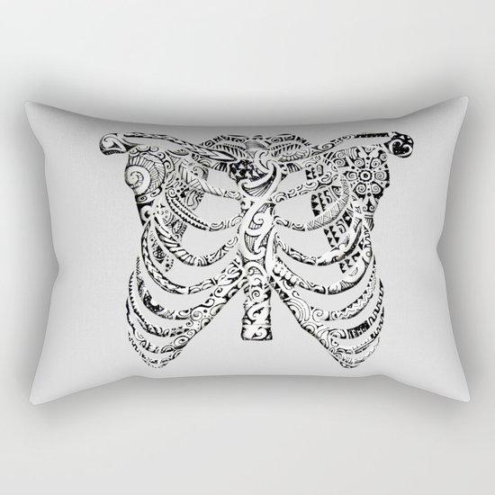 Ribcage Tattoo Rectangular Pillow