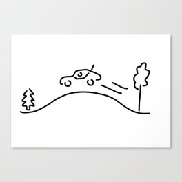 ralley rally car racing offroad Canvas Print