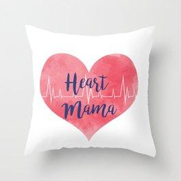 Heart Mama Throw Pillow