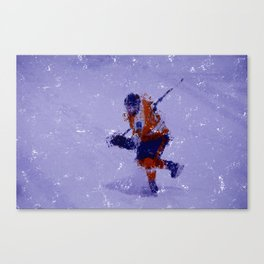 Eyes on the Prize - Ice Hockey Player Canvas Print