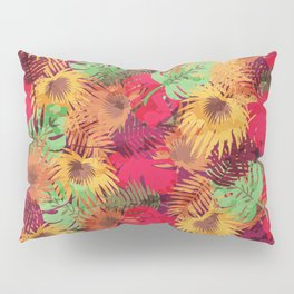 Seamless Pattern of Tropical Leaves Pillow Sham