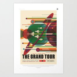 The Grand Tour : Vintage Space Poster Art Print