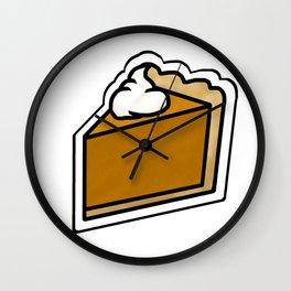 Pumpkin Pie Wall Clock