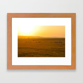African Sunrise Framed Art Print
