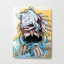 Abstract Kakashi Metal Print