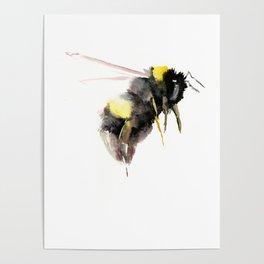 Bumblebee, bee art, bee design Poster