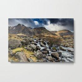 Glyderau Mountain Winter Metal Print