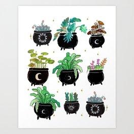 Cauldron Planters Art Print