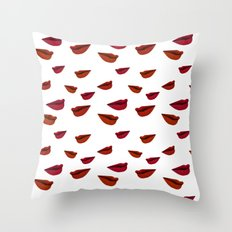 retro lips Throw Pillow