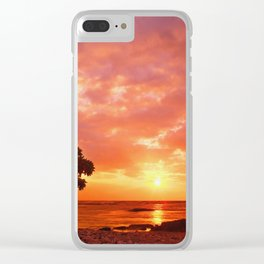 Warm Color Sunset Clear iPhone Case