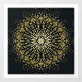 Gold Lines Art Print
