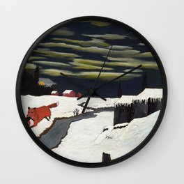 African American Masterpiece 'The Getaway' by Horace Pippin Wall Clock