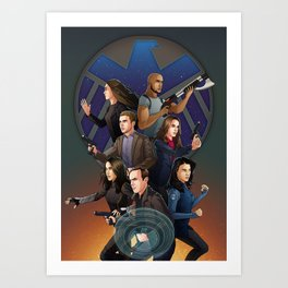 SHIELD Team In Action Art Print