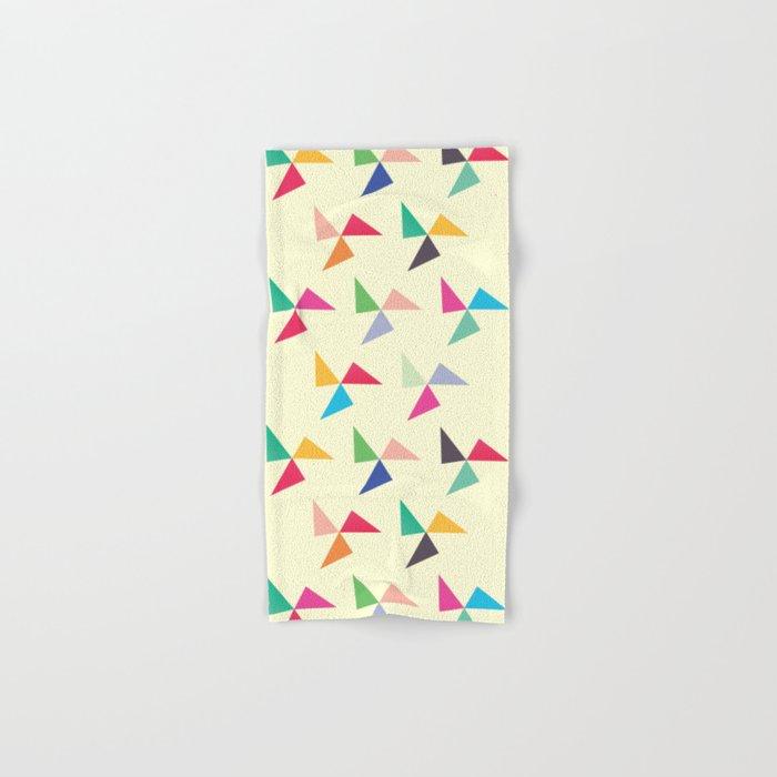 Colorful geometric pattern III Hand & Bath Towel